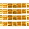 Miyuki Tila Beads 5X5mm 2 Hole Gold Opaque